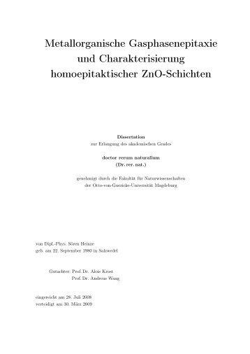 Metallorganische Gasphasenepitaxie und Charakterisierung ...