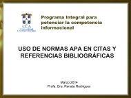 USO DE NORMAS APA EN CITAS Y REFERENCIAS BIBLIOGRÁFICAS