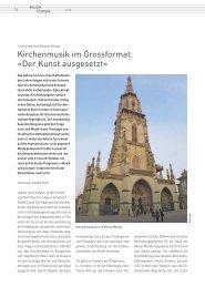 Kirchenmusik im Grossformat: «Der Kunst ausgesetzt»