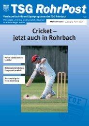 Mai/Juni 2012 - TSG Heidelberg-Rohrbach
