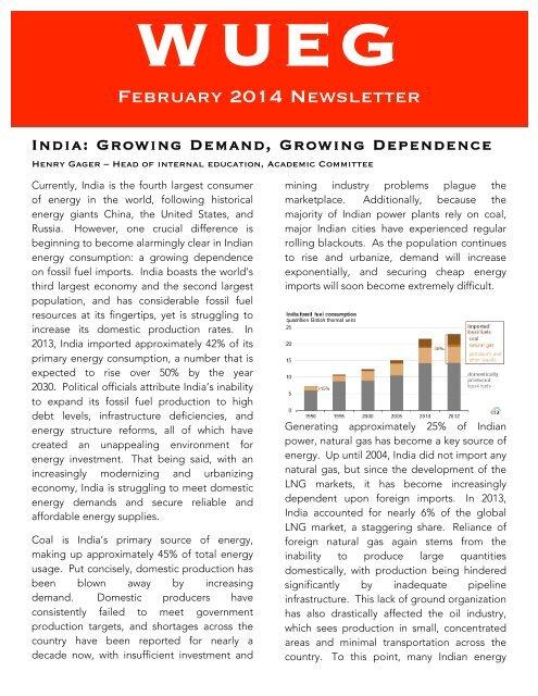 WUEG February 2015 Newsletter