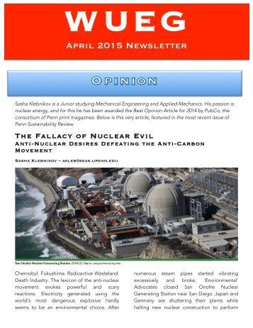 WUEG April 2015 Newsletter