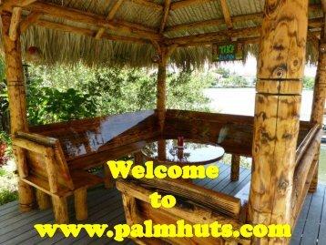 Custom Tiki Patio & Tiki Hut