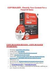 Copy Builder review and Copy Builder $11800 Bonus & Discount