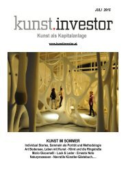 KUNSTINVESTOR Heft Nr. 7 [AUSGABE JULI 2015]
