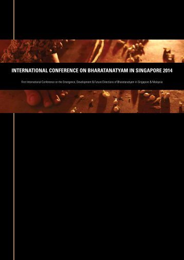 INTERNATIONAL CONFERENCE ON BHARATANATYAM IN SINGAPORE 2014 - Conference Booklet