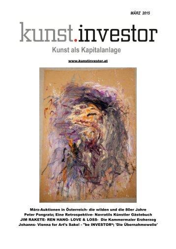 KUNSTINVESTOR Heft Nr. 3 [AUSGABE MÄRZ 2015]