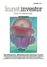 KUNSTINVESTOR - AUSGABE DEZEMBER 2014