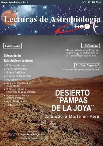 LECTURAS DE ASTROBIOLOGÍA 2015