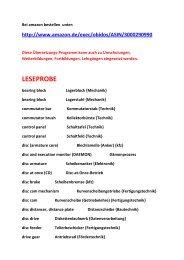 Fremdsprache englisch-deutsch: Technik-Wissen fuer Mechatronik-Azubis (Mechanik-LESEPROBE: )
