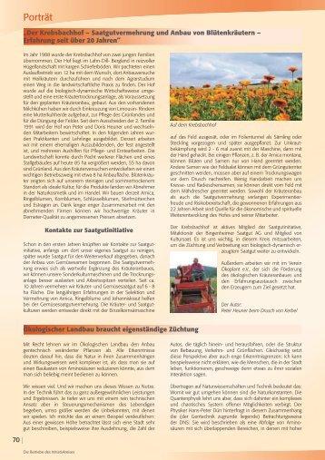 Redaktionelle Beiträge aus unserem Katalog 2010