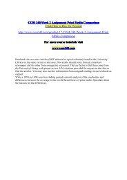 COM 340 Week 2 Assignment Print Media Comparison / com340dotcom