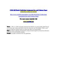 COM 340 Week 3 Individual Assignment Sex and Violence Paper / com340dotcom
