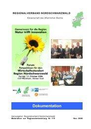 Grußwort - Regionalverband Nordschwarzwald