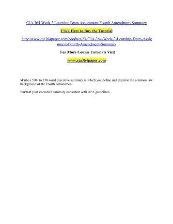 CJA 364 Week 2 Learning Team Assignment / cja364paperdotcom