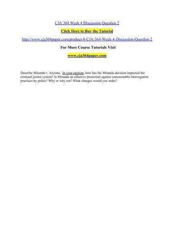 CJA 364 Week 4 Discussion Question 2/ cja364paperdotcom