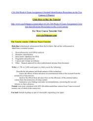 CJA 364 Week 4 Team Assignment Criminal Identification/ cja364paperdotcom