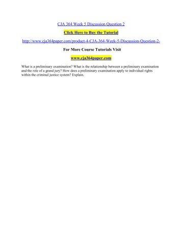 CJA 364 Week 5 Discussion Question 2/ cja364paperdotcom