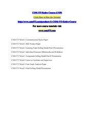 COM 373 Entire Course (UOP) / com373dotcom
