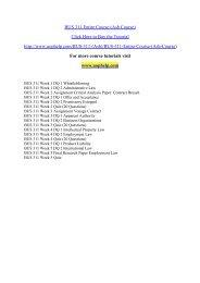BUS 311 Entire Course (Ash Course)/uophelp