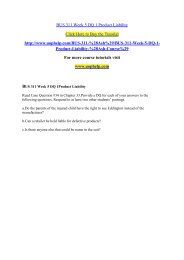 BUS 311 Week 5 DQ 1 Product Liability /uophelp
