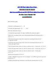 MAT 209 Week 4 Quiz (New) (2 Sets)/MAT209nerddotcom