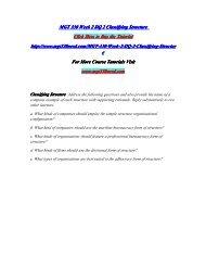 MGT 330 Week 2 DQ 2 Classifying Structure/MGT330nerddotcom