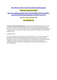 BUS 330 Week 4 DQ 1 Functions of Marketing Management/uophelp
