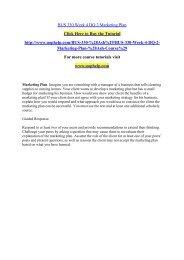 BUS 330 Week 4 DQ 2 Marketing Plan/uophelp