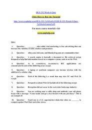 BUS 352 Week 4 Quiz/uophelp