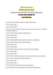 COM 537 Entire Course / com537dotcom