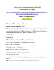 BUS 362 Week 5 Business Opportunity Project (Ash) /uophelp