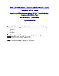 OI 361 Week 1 Individual Assignment Definitions Paper/OI361nerddotcom