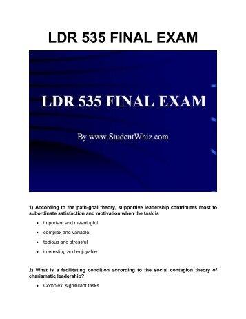 UOP Course Material LDR 535 Week 1 Leadership Theories Worksheet