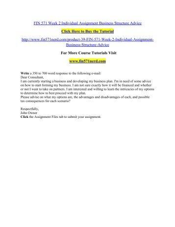 FIN 571 Week 2 Individual Assignment Business/ fin571nerddotcom