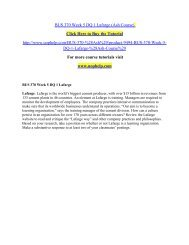 BUS 370 Week 5 DQ 1 Lafarge (Ash Course)  /uophelp