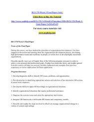 BUS 370 Week 5 Final Paper (Ash)  /uophelp