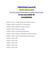 COMM 315 Entire Course (UOP) / comm315dotcom