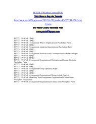 PSYCH 570 Entire Course (UOP)/PSYCH570paperdotcom