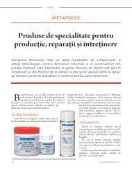Weicon - produse de specialitate pentru producţie, reparaţii și întreţinere