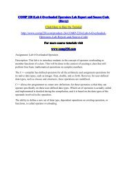 COMP 220 iLab 6 Overloaded Operators Lab Report and Source Code (Devry) / comp220dotcom