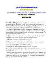 CRJ 201 Week 2 Constitutional Policing / crj201dotcom