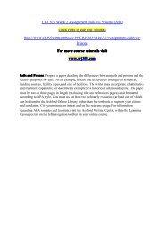CRJ 303 Week 2 Assignment Jails vs. Prisons (Ash) / crj303dotcom