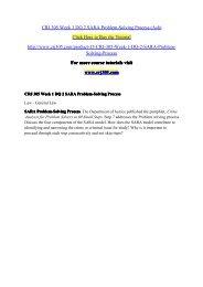 CRJ 305 Week 1 DQ 2 SARA Problem-Solving Process (Ash) / crj305dotcom