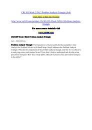 CRJ 305 Week 2 DQ 2 Problem Analysis Triangle (Ash) / crj305dotcom