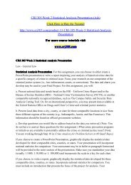 CRJ 305 Week 2 Statistical Analysis Presentation (Ash) / crj305dotcom
