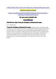 CRJ 305 Week 3 DQ 2 Twenty-five Techniques of Situational Prevention (Ash) / crj305dotcom