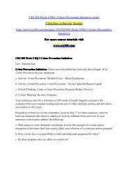 CRJ 305 Week 5 DQ 1 Crime Prevention Initiatives (Ash) / crj305dotcom