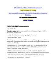 CRJ 305 Week 4 DQ 2 Corrections Initiatives (Ash)/ crj305dotcom