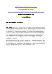 CRJ 305 Week 5 DQ 2 Gun Violence (Ash) / crj305dotcom